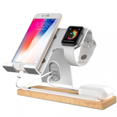 Cell Phone Stand, LAMEEKU Apple Watch Charger Stand : Dock Cradle Holder  Compatible For iWatch, all Smartphone, iPhone 6 6s X 7 8 Plus- Silver