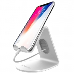 LAMEEKU Compatible Cell Phone Stand Replacement for iPhone Stand,  Desktop Cradle Dock, Charging Station For Switch, all Smartphone, Silver
