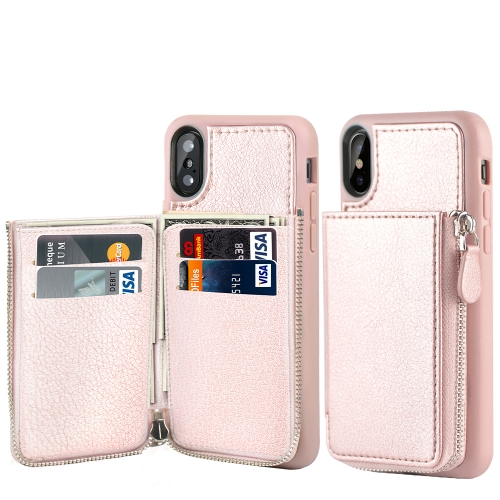LAMEEKU Wallet Zipper Case for Apple iPhone Xs Max, 6.5-Inch, Leather Purse Cases with Card Slot Money Pocket, Compatible with iPhone Xs Max