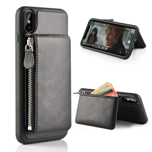 iPhone XS Max Wallet Case, Shockproof Leather Credit Card Holder Slot Case for iPhone XS Max