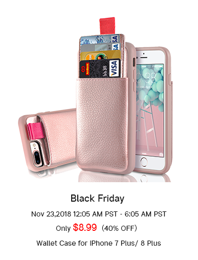 40% off discount for iphone 7 plus wallet case