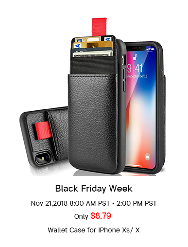 20% off discount for iphone Xs / X wallet case
