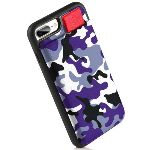 "LAMEEKU Wallet Case, Protective Card Holder Case with Credit Card Slot, Leather Cover for iPhone 7 Plus/ 8 Plus 5.5"" Camouflage Print"